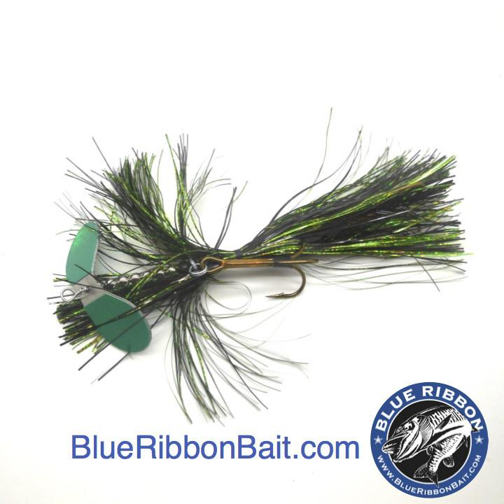 Kramer Bros Tackle | Revolution Bucktail #9-Kramer Bros Tackle-Flowage Green-Blue Ribbon Bait & Tackle
