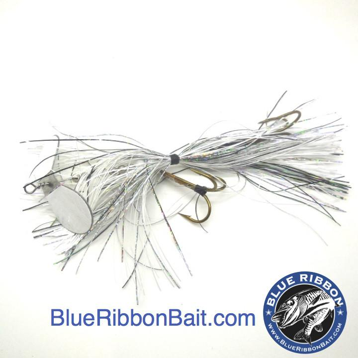 Kramer Bros Tackle | Revolution Bucktail #9-Kramer Bros Tackle-White/White blade-Blue Ribbon Bait & Tackle