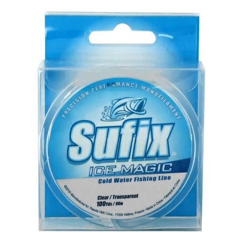 "Sufix | Ice Magic Cold Water Fishing Line-Sufix-2LB; 100 yds; .004""; color: clear-Blue Ribbon Bait & Tackle"