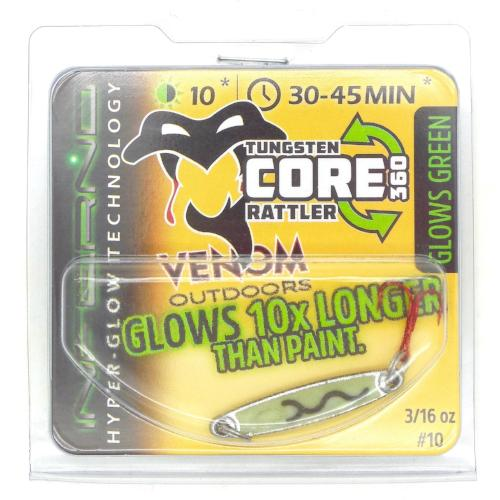 Venom Outdoors | Inferno Spoons-Venom Outdoors-Nickel/Green; 3/16oz#10 Glows Green-Blue Ribbon Bait & Tackle