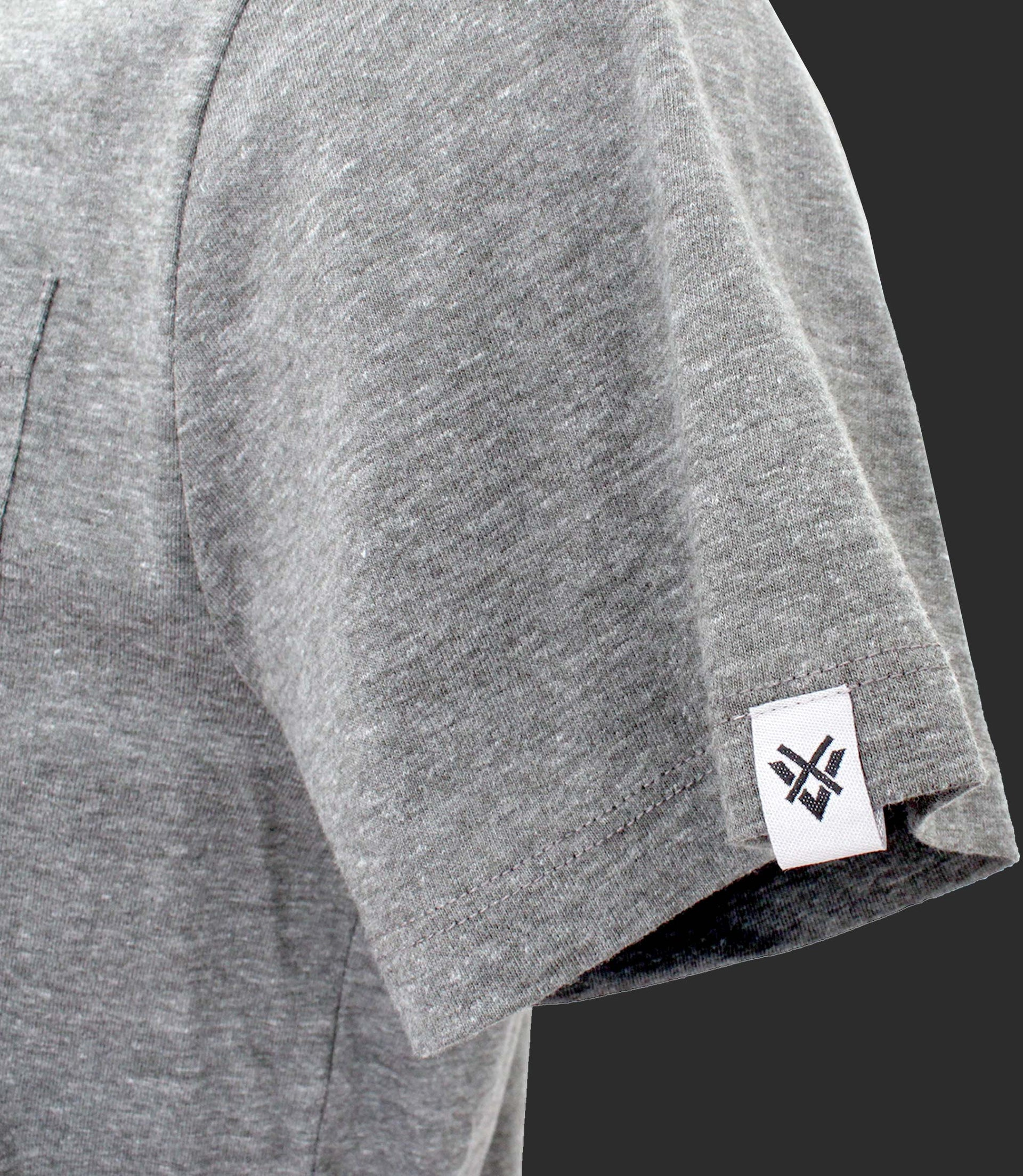 Basic crewneck tee with pocket - Mod. BLACK BRIDGE - Faded Gray