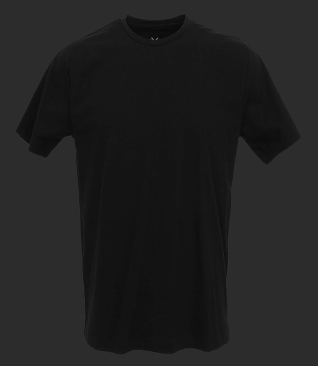 Crewneck tee with front seam - Mod. DIVISION - True Balck