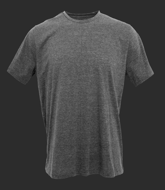 Crewneck tee with front seam - Mod. DIVISION - Faded Gray