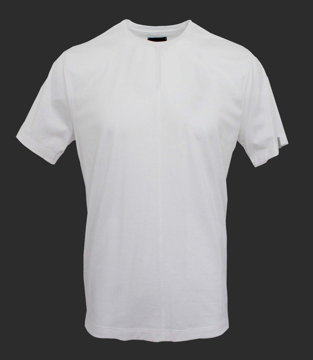 Crewneck tee with front seam - Mod. DIVISION - Optical White