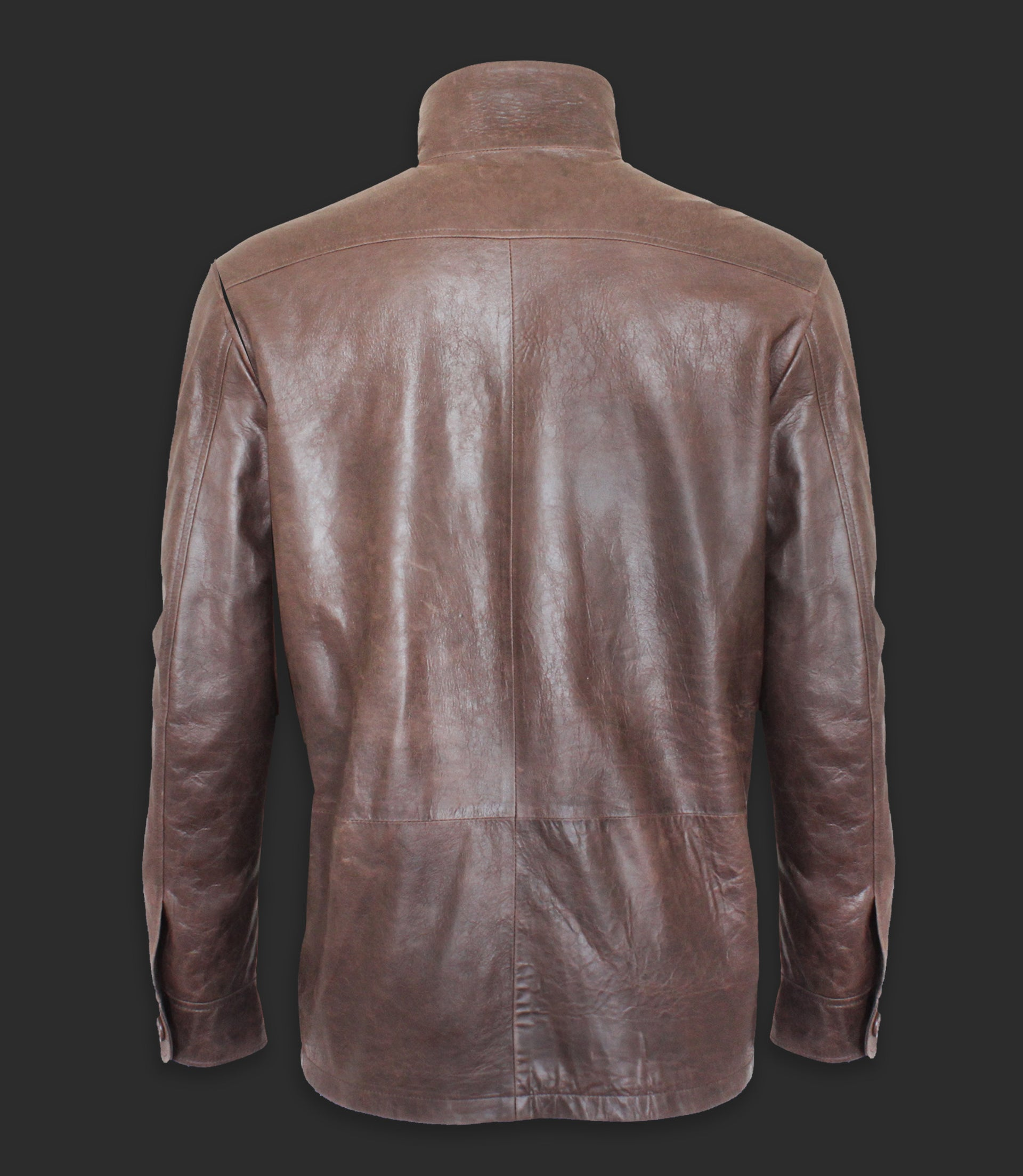 Lambskin leather jacket with front pockets - Mod. CAM
