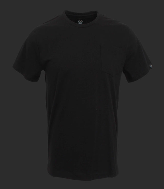 Basic crewneck tee with pocket - Mod. BLACK BRIDGE - Smoked black