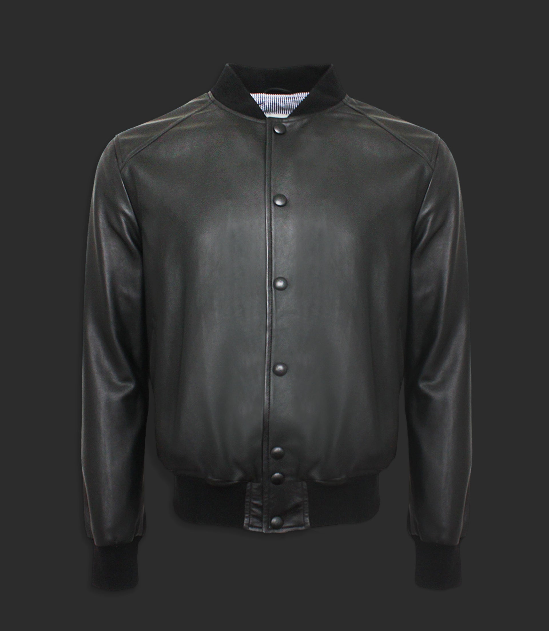 Lambskin leather bomber - Mod. KING