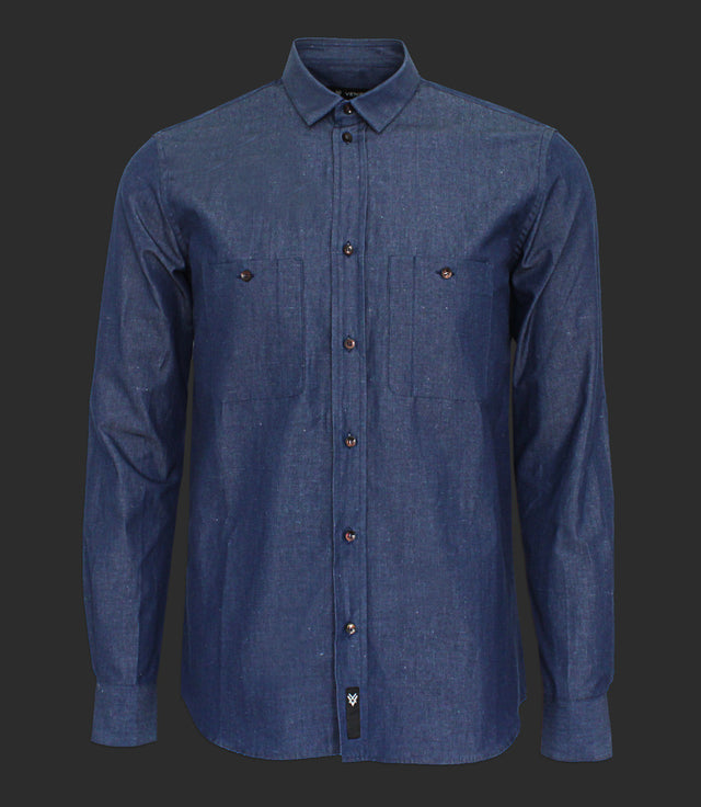 Denim shirt with pockets - Mod. RAW