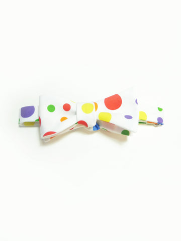 ync by nny Rainbow polka dot cotton dandy Self-Tie Bow Tie by nana n yoshida