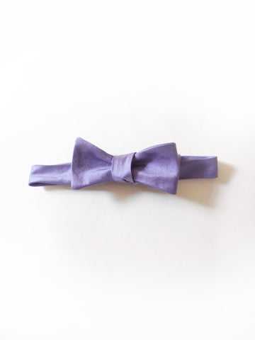 ync by nny Silk Dupioni Purple Mountain Blue dandy Self-Tie Bow Tie by nana n yoshida