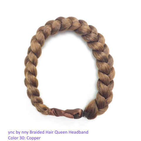 ync by nny Jumbo Thick Braided Queen Headband Made with Natural-looking Synthetic Hair. Light Color options. Yn Couture by Nana N Yoshida