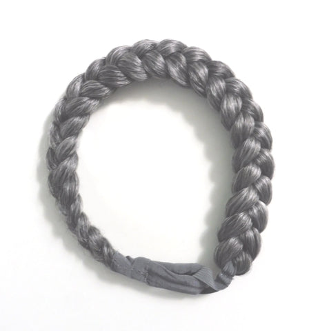 Jumbo Thick Braided Hair Queen Headband (Metal Colors)