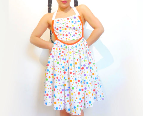 Rainbow Polka Dot Twister Dress