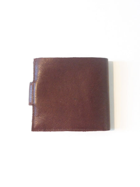 Smallest Minimalist Leather Cash Wallet for US Dollars Brown