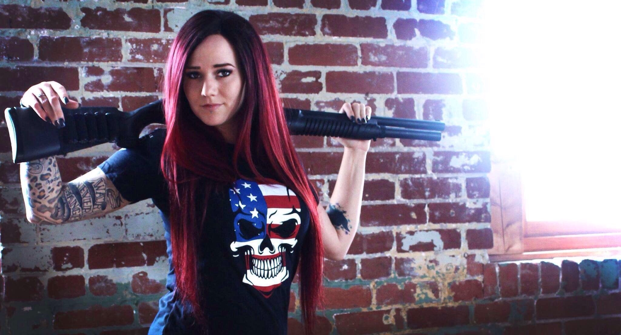 Ghost Rider Women - Rock Rifle Trading Co. Patriotic, Veteran Clothing and Apparel