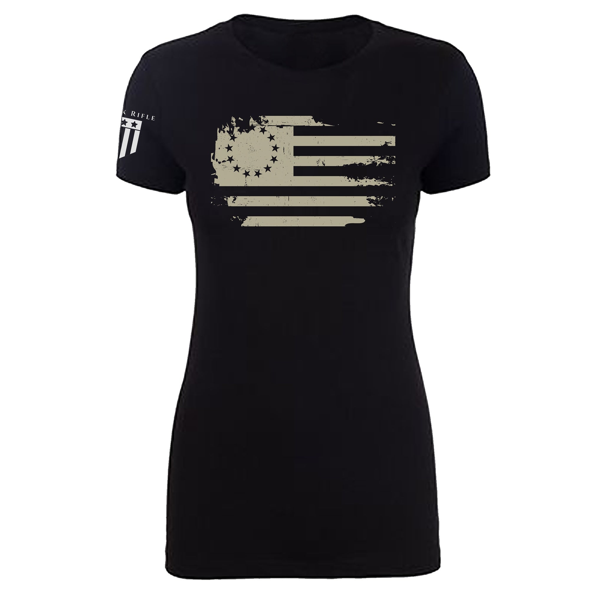 Original Colonies Flag Women's White - Rock Rifle Trading Co. Patriotic, Veteran Clothing and Apparel