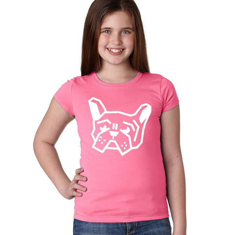 Frenchie Head Girls Tee - Barrel Dogs