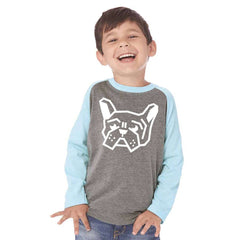Frenchie Head Youth 3/4 Unisex - Barrel Dogs