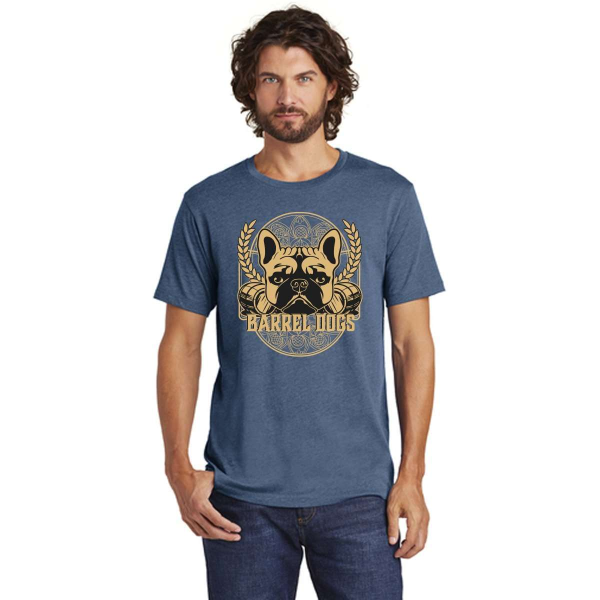 Beer Label Men's Tee - Barrel Dogs