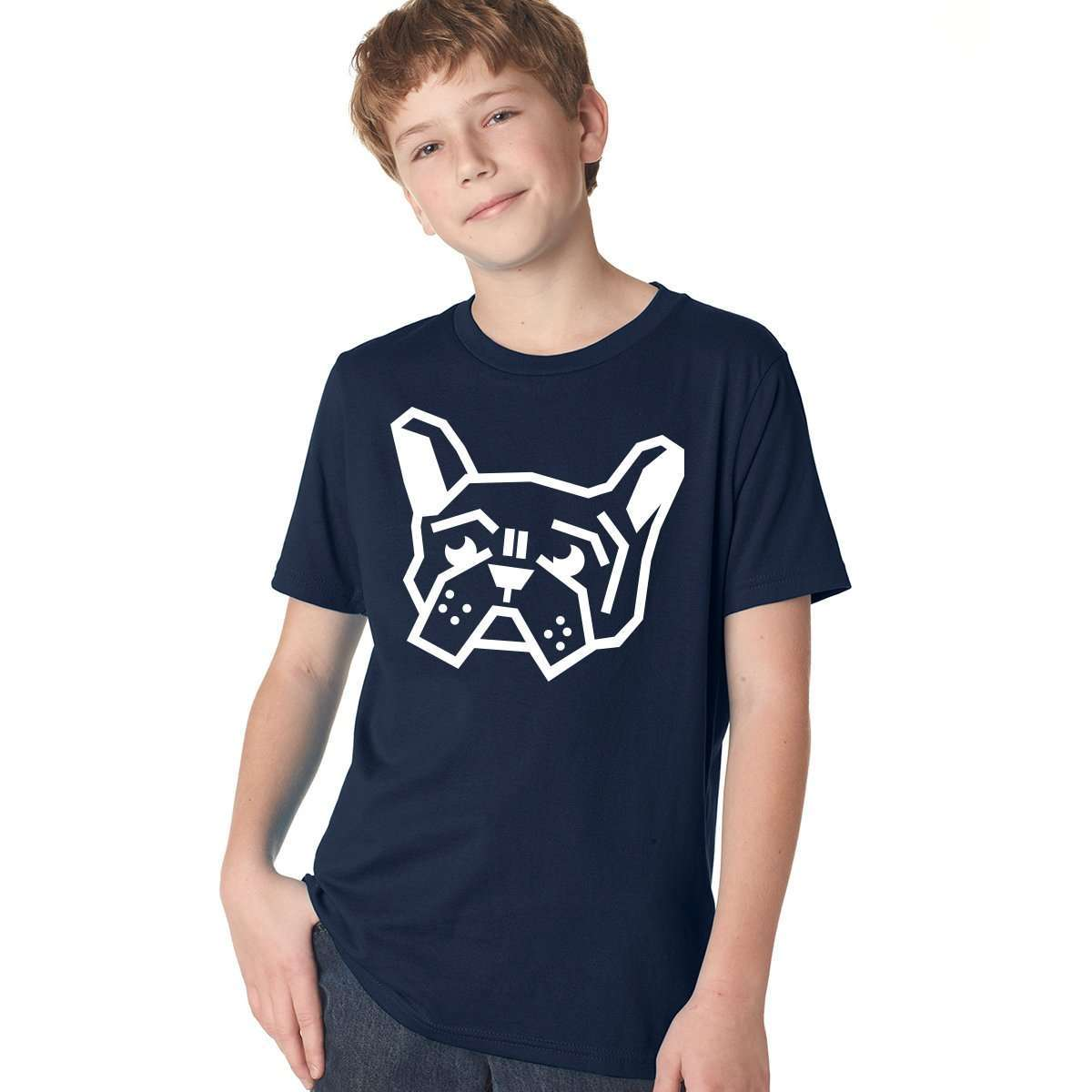 Frenchie Head Boys Tee - Barrel Dogs