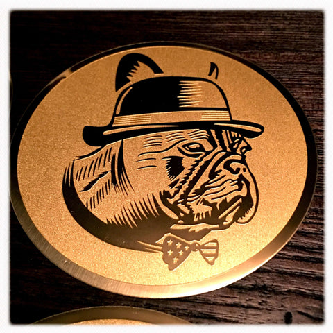 Barrel Dogs Metal Coaster - Barrel Dogs
