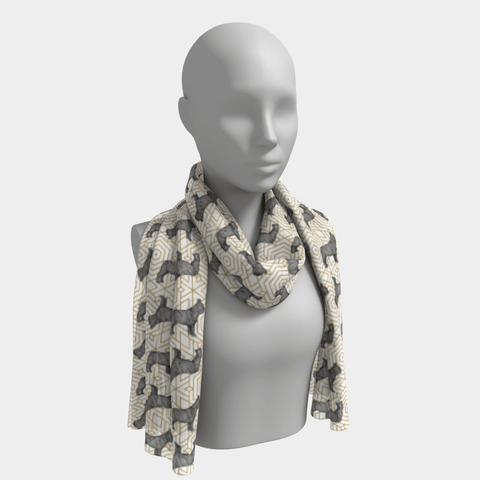 Frenchie Print Scarf - Barrel Dogs
