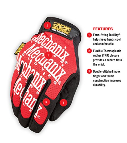 Mechanix Wear Original Gloves Large Red