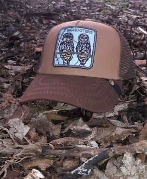 GORRA GOORIN BROS BIG HOOTERS CAFE CLARO-OSCURO