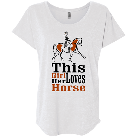 Tshirt for horse lovers. This Girl loves her horse.