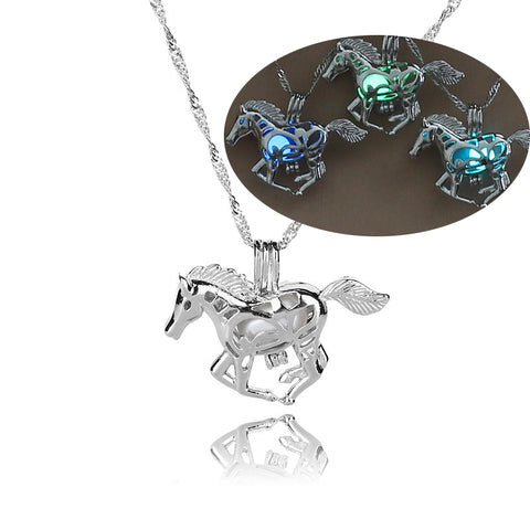 Horse Gifts. Glowing in the dark necklace