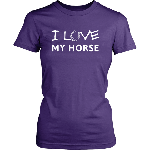 I love my horse tshirt. Great gift for horse lovers.