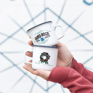 Enamel Holiday Mug