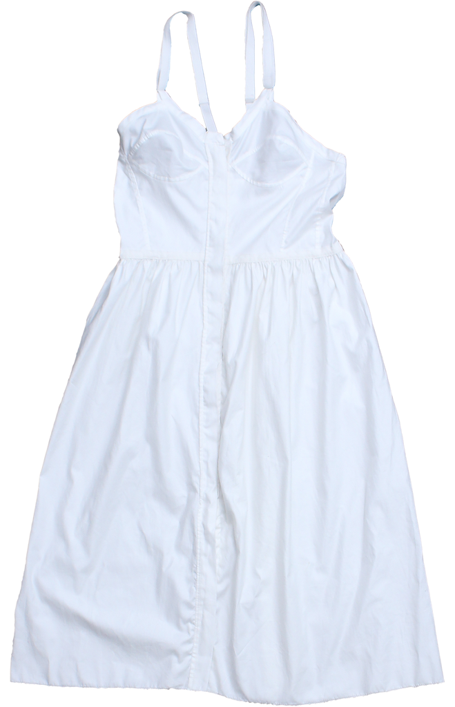 Sculpted Dress White