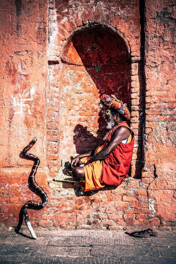 Yogi Indian sitting by window