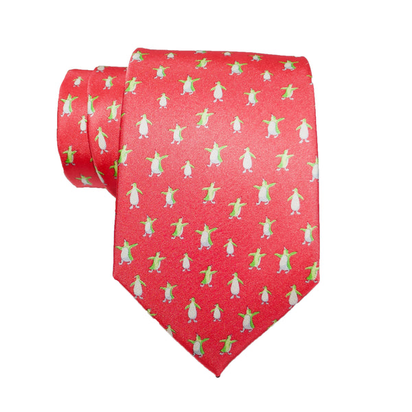 Penguins - Print Regular Tie
