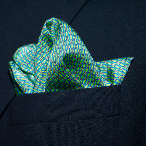 Oval Links - Pocket Square