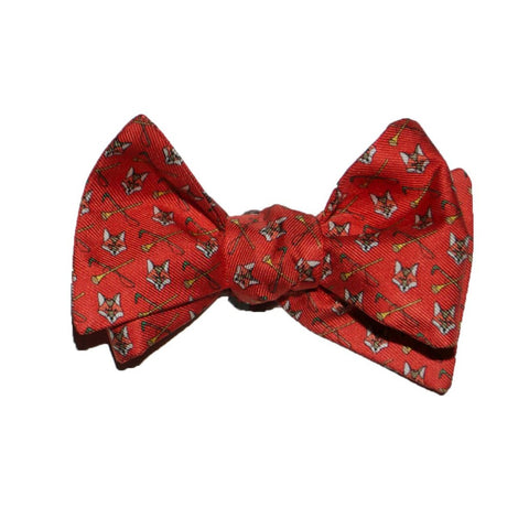 Fox Heads - Print Bow Tie