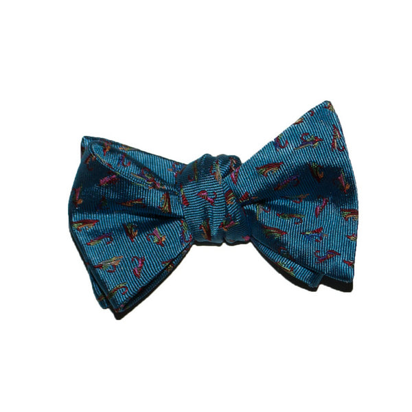 Fish Flies - Woven Bow Tie