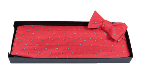 Snow Bird - Print Cummerbund Set