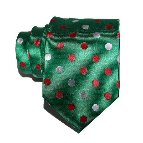 Large Festive Dots - Woven Regular Tie
