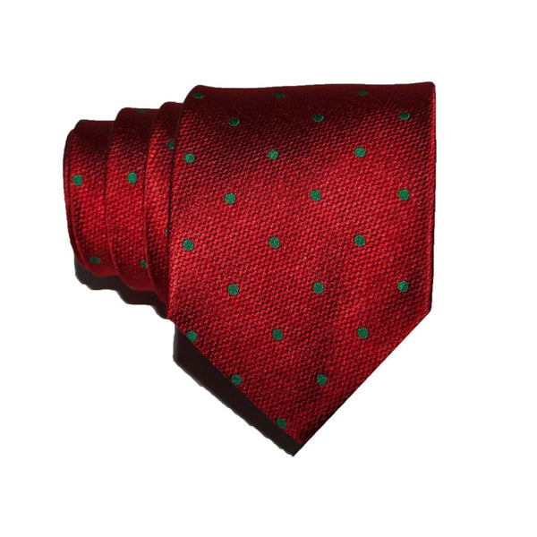 Small Festive Dots - Woven Regular Tie
