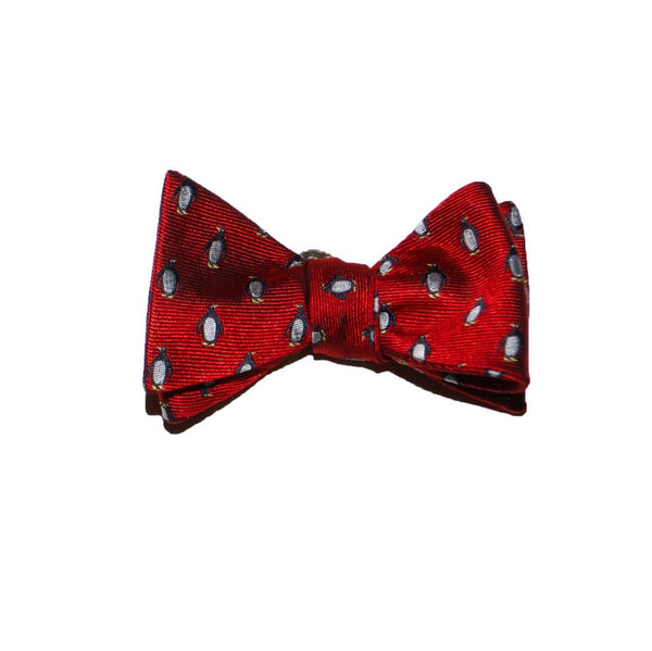 Penguins - Woven Bow Tie