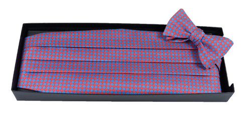 Basketweave - Print Cummerbund Set