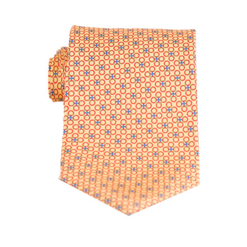 Circle Cross- Print Regular Tie