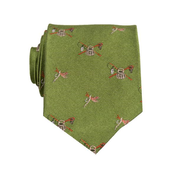 Creel & Rods - Woven Regular Tie
