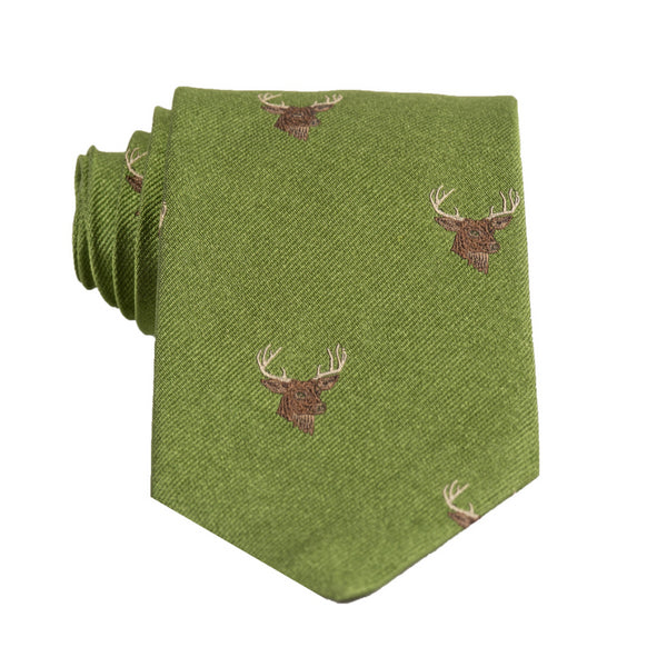 Deer Head - Woven Regular Tie