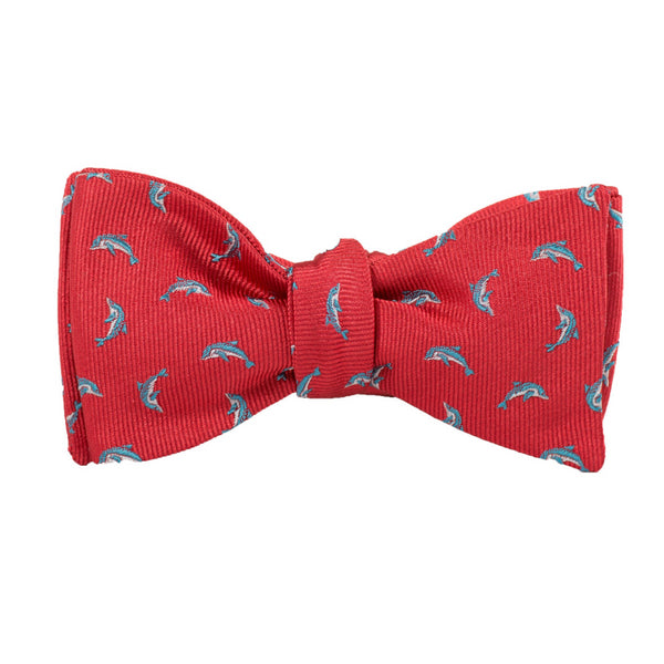 Dolphins - Woven Bow Tie
