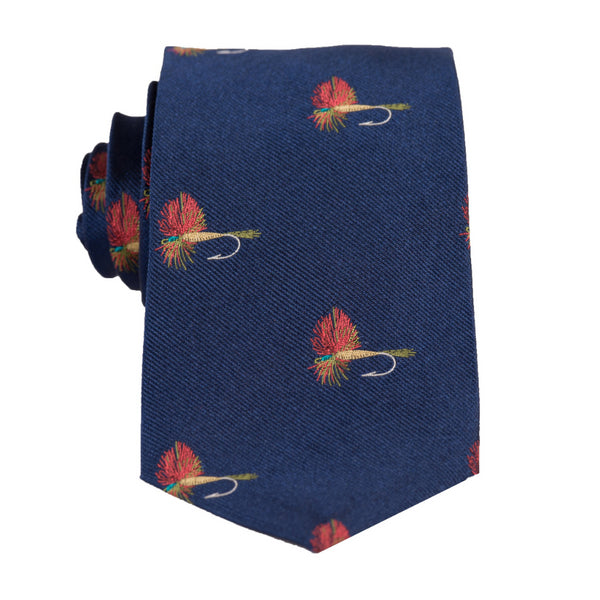 Fish Fly- Woven Regular Tie