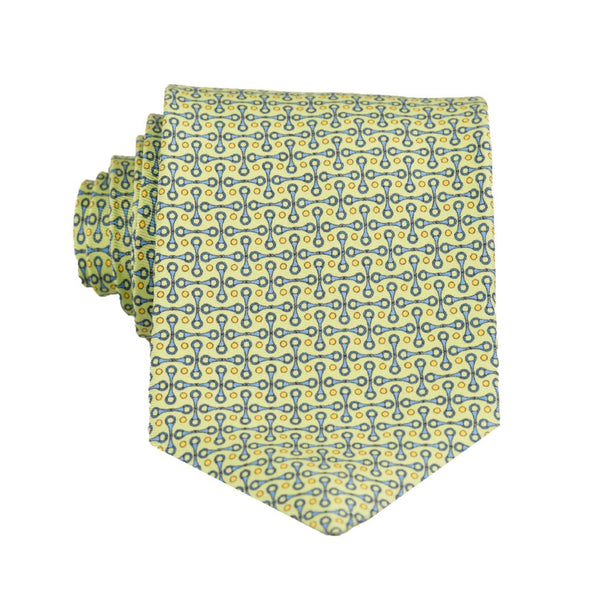 Horsebit- Print Regular Tie