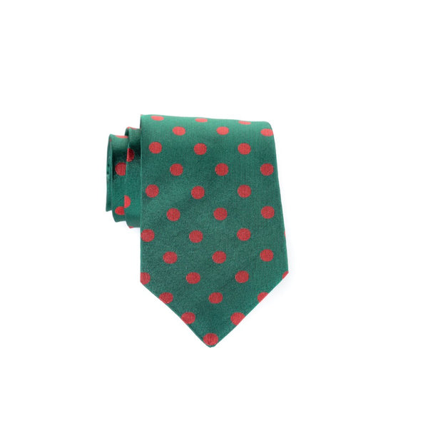Large Dots - Woven Regular Tie